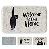 Cheap Cayman Pets Pet Feeding Mat-Dog Food Mat and Cat Food Mat, Pet Bowl Mat, Cat Litter Mat, Water Resistant Door Mat, Large Size, 29.5″ by 18″ (Welcome to Our Home)