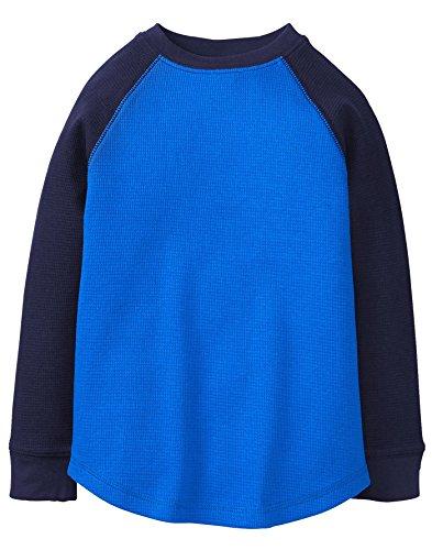 Gymboree Boys' Little' Long Sleeve Tee Colorblock Waffle, Blue Color Block, M