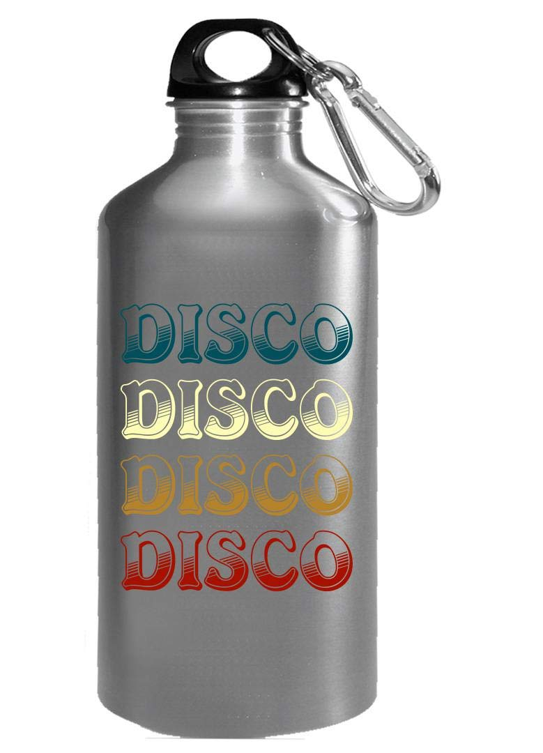 Funny Disco - Dancing Steps Beats Music Moves Groovy Dance Humor - Water Bottle