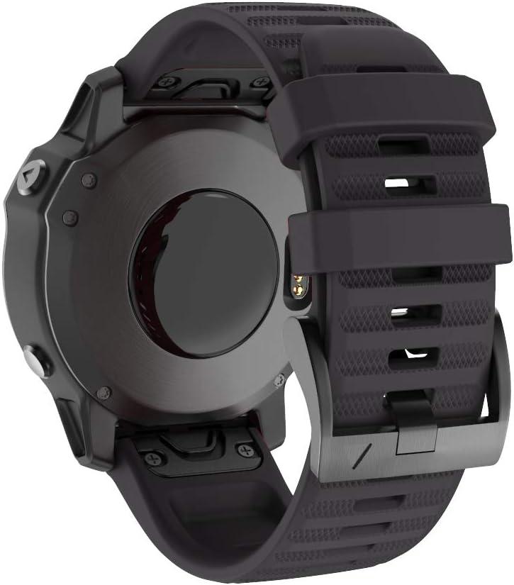 Isabake Watch Band for Garmin Fenix 6X/6X Pro, QuickFit 26mm Watch Straps Compatible with Fenix 6X/6X Pro Fenix 5X/5X Plus Fenix 3/3 HR(Black)