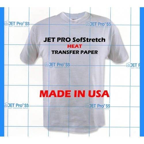 Jet-pro Iron on Inkjet Heat Transfer Paper 8.5x11 - 10 Sheets- Neenah