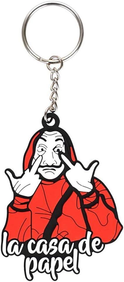 Llavero Colgante con patrón de máscara Facial Dali de La Casa De Papel: Amazon.es: Juguetes y juegos