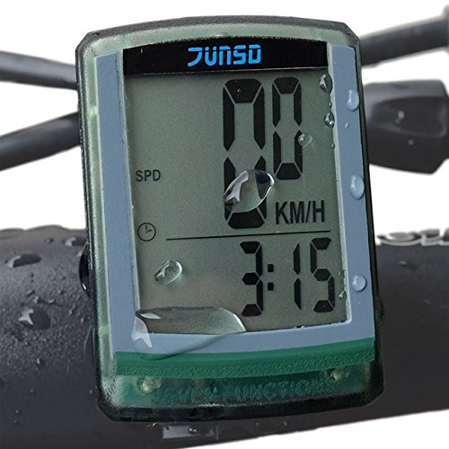 OutdoorMaster JUNSD Bike Computer, Waterproof Multifunction Cycling Speedometer (Green) (Green Cycling Computer compare prices)