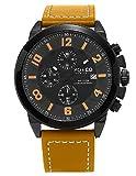 SO & CO New York  Men's 5212.3 Monticello Analog Display Quartz Brown Watch