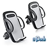 Automotive : Car Phone Holder, ilikable 2 Pack Air Vent Car Mount Cradle Twist-lock and Three-sized Setting Car Holder with Quick Release Button for iPhone Samsung Smartphone GPS Devices-Black
