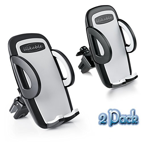 Car Phone Holder, ilikable 2 Pack Air Vent Car Mount Cradle