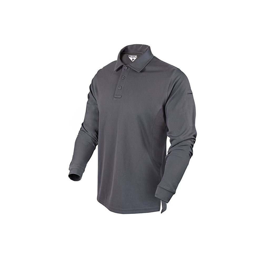 Condor Outdoor Performance Long Sleeve Tactical Polo Shirt (XX-Large, Graphite)