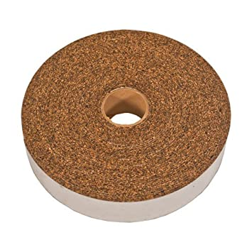 CORK AND RUBBER STRIPPING WITH ADHESIVE 1/8' X 1-1/2' X 25' Cleverbrand Inc 26387