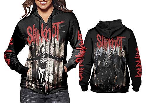 Nicoci3 New Fans Slipknot Women Hoodie Full Print Custom Size S-3XL Art 2 (Zipper, Small)