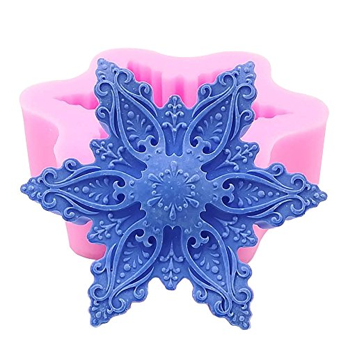 Great Mold Christmas Snowflake Silicone Mold for Chocolate Candy Wax Melts Soap Oreo Candle Resin Art Crafts Fondant Cake Decorating Tools