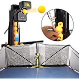 ZXMT Table Tennis Robot Machine JT-A S8-PRO Tabletop Ping Pong Robot Machine with Catch Net for Training