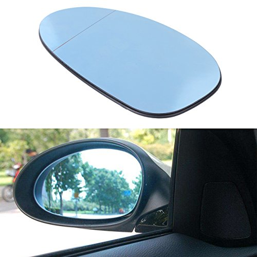 BOXATDOOR Mirror Glass for BMW, Wing Mirror Glasses Blue Heated Left Door Side Mirror for BMW E82 E88 E46 E85 E90 - Bmw Mirror M3