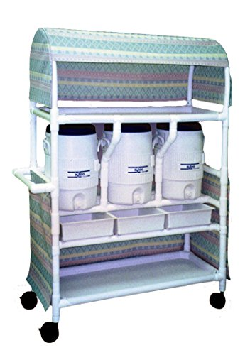 Pull Out Cooler Drawer (Care Products 273-RB Hydration Cart with Three 5 gal Water Coolers, Canopy, Three Pull Out Drawers & Storage Shelf, 69