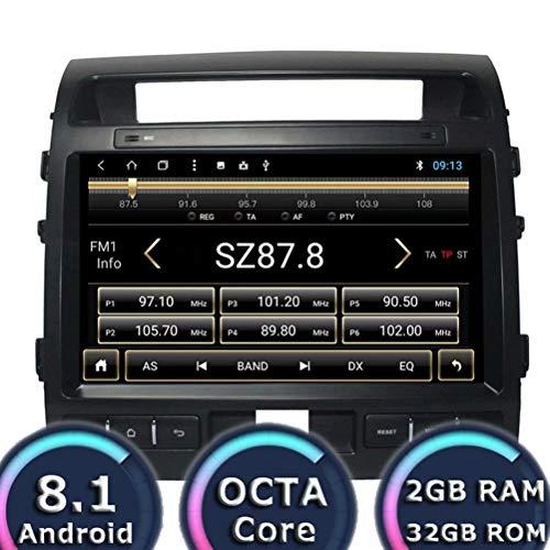 (ROADYAKO Android 8.1 Auto Media Toyota Land Cruiser 2007 2008 2009 2010 2011 2012 2013 2014 Car Navigation Stereo Radio WiFi 3G RDS Mirror Link FM AM Bluetooth SWC)