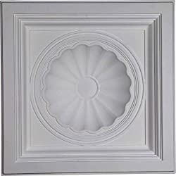 "Ekena Millwork 23 78""w X 23 78""h X 5 12""p Shell Ceiling Tile"