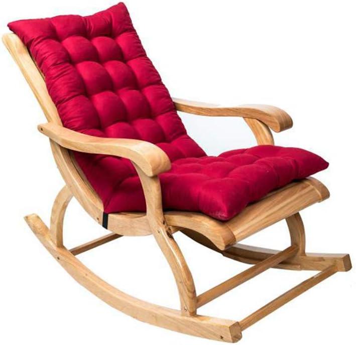 NIVNI Cojines de silla de jardín, antideslizantes, de ante mecedora para tumbona de jardín, cojines acolchados gruesos y acolchados con lazos