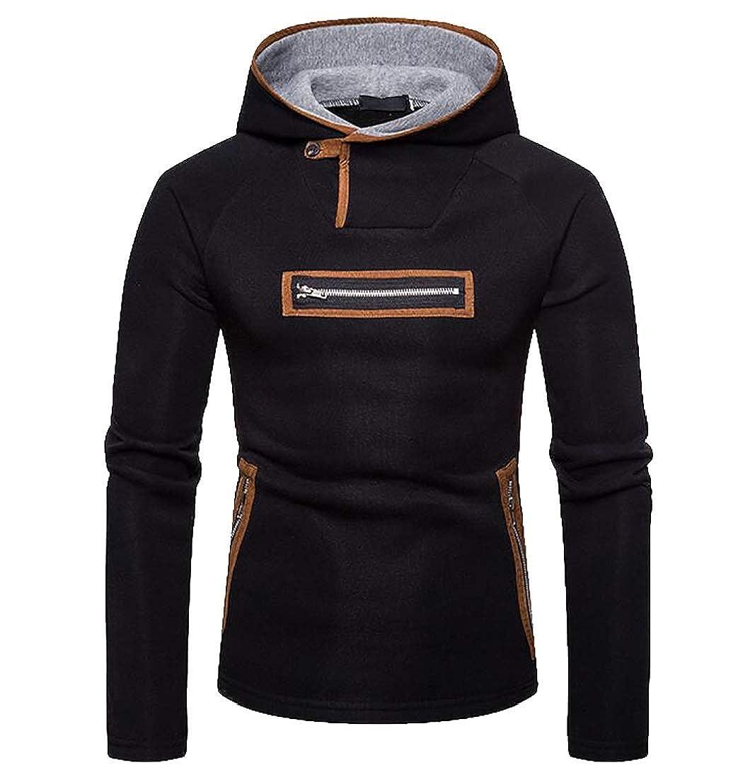 Belie Men's Hoodies Long Sleeve Slim Pullover Sweatshirt Hoody Tops
