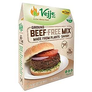 Vejje Meat-Free Mixes (GROUND BEEF-FREE MIX) (Single Box) (Makes 3 Pounds)