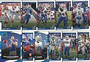 2017 Panini Donruss Football Buffalo Bills Team Set 11 Cards W/Rookies