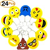 Best Emoji Backpacks For Kids - O'Hill Emoji Keychains Emoticons Key Ring for Birthday Review