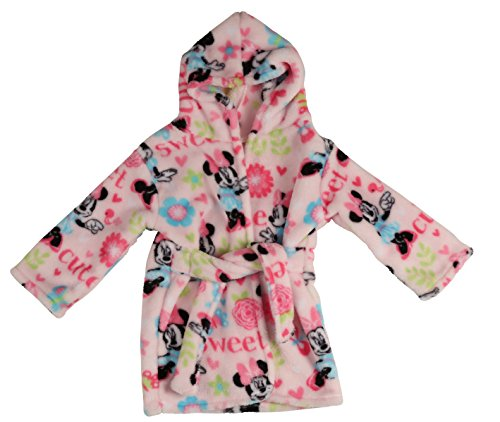 Disney Minnie Mouse Flannel Fleece Robe, Pink