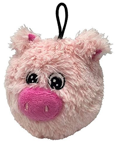 (4 Inch Ez Squeaky Pig Round Dog Toy By Petlou)
