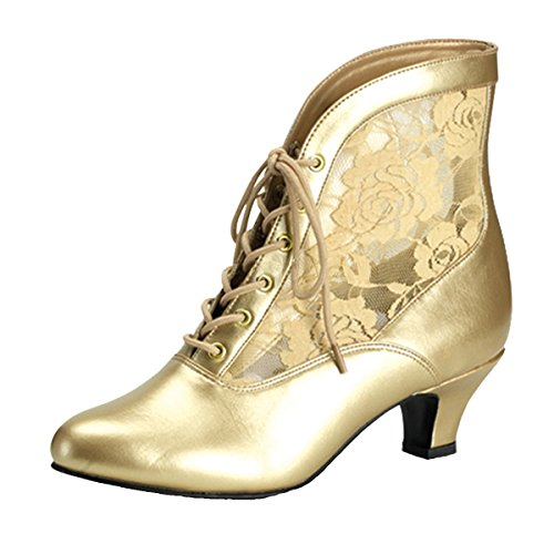 Heels-Perfect Stiefelette Gold, Damen, Gold (Gold) Gold (Gold)