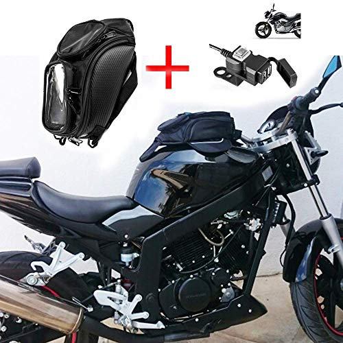 Motorcycle Fuel Tank Bag Oxford Magnetic Bag Saddle Bag Motorcycle Waterproof Bag Suitable For Honda Yamaha Suzuki Kawasaki Harley