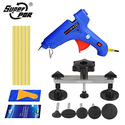 Super PDR 15pcs Bridge Glue Puller kit Car auto Body Paintless Dent Removal Repair Tool Kit Pops-a-dent Dent & Ding Repair (Bridge Personal File)