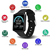 Fitness Tracker,Waterproof Smart Watch with Heart Rate & Pedometer Monitor Compatible for Samsung Android and iOS,Health Tracker with Sleep Monitor for Kids Men Women