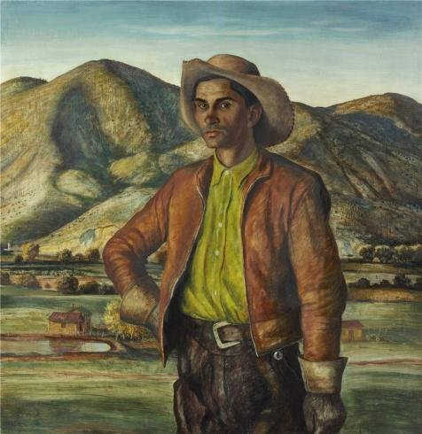 Oil Painting 'Peter Hurd,Jose Herrera,1938' Printing On Perfect Effect Canvas , 16x16 Inch / 41x42 Cm ,the Best Kids Room Decoration And Home Decoration And Gifts Is This Imitations Art DecorativePrints On Canvas