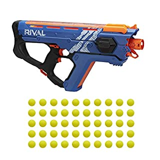 Perses Mxix-5000 Nerf Rival Motorized Blaster (Blue) -- Fastest Blasting Rival System, up to 8 Roundsper S -- Rechargeable Battery, Quick-Load Hopper