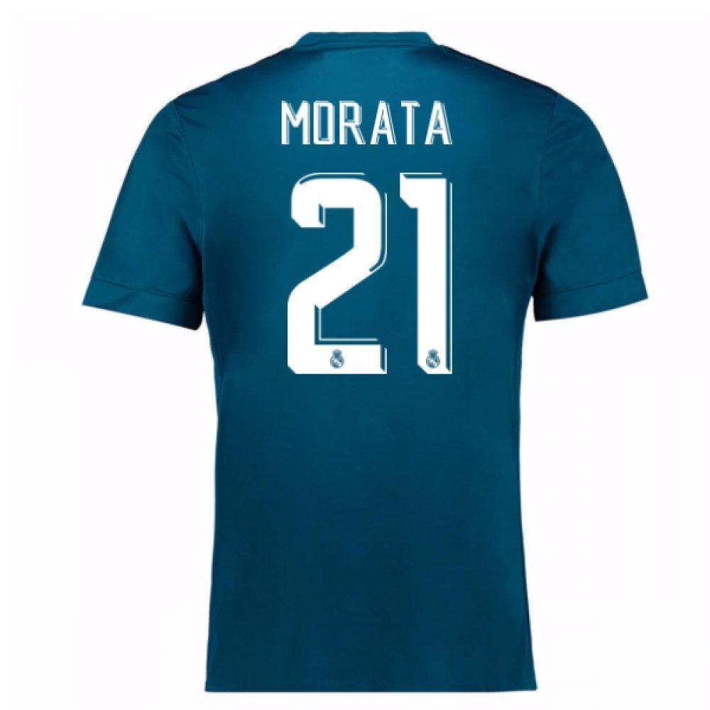 2017-18 Real Madrid Third Football Soccer T-Shirt Trikot (Alvaro Morata 21) - Kids
