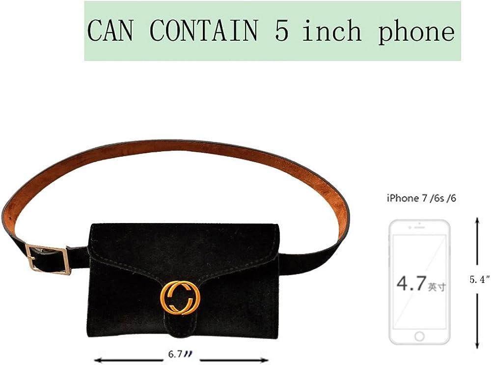 t/él/éphone portable sac de voyage de poche taille ceinture amovible Famhome sac banane de mode flanelle