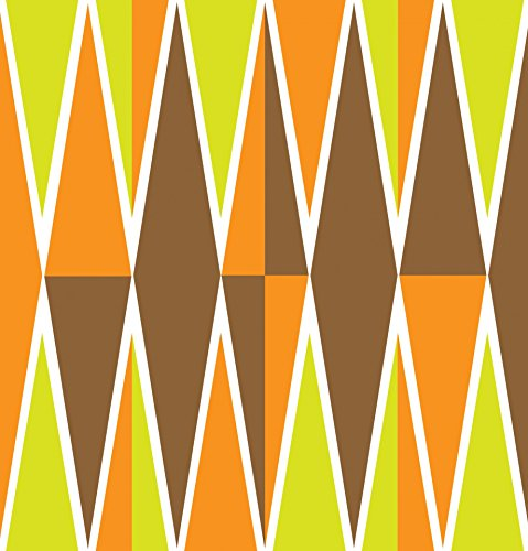 Home Comforts Diamonds Pattern Orange Illustrations Poster Print 24 x 36 Print 24 x 36 by Home Comforts