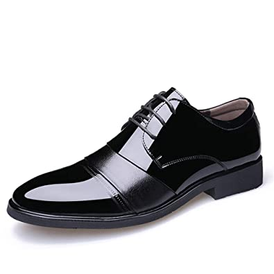 Shufang-shoes Men s Business Oxford Casual Breathes The Color British Style  Pointed Patent Leather Formal fde1f7c9b93