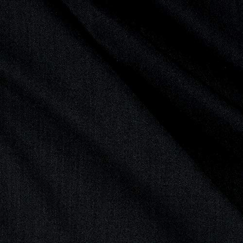 Tuva Textiles 100% Wool Gabardine Fabric, Black, Fabric By The Yard