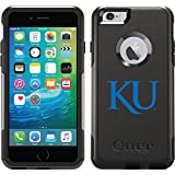 University Of Kansas Ku design on Black OtterBox Commuter Series Case for iPhone 6 Plus and iPhone 6s Plus