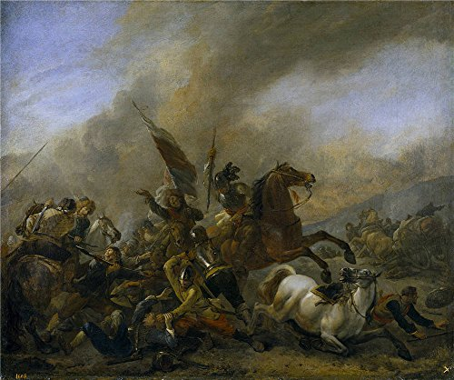 Oil Painting 'Wouwerman Philips Refriega Entre Tropas Enemigas 1648 49 ' Printing On Polyster Canvas , 10 X 12 Inch / 25 X 30 Cm ,the Best Home Theater Artwork And Home Decoration And Gifts Is This Amazing Art Decorative Canvas Prints