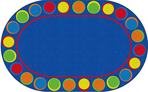 Flagship Carpets FE307-45A Sitting Spots Primary (Seats 24), Multi - Colorful Places Seating Rug