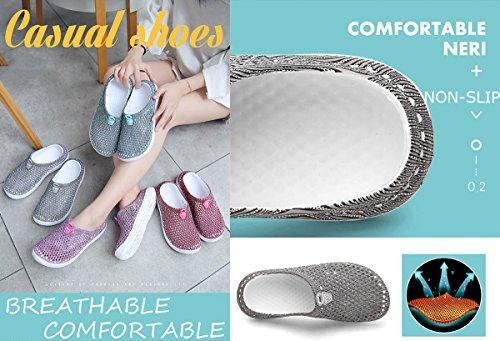 slip Rose Maille Plage Marche Jardin Eau Pantoufles Douche Femmes Anti Sandales Respirant Ray Chaussures D't Clog Wllh ZU65qn