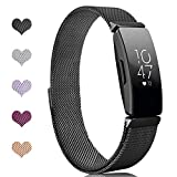 Intoval Bands Compatible with Fitbit Inspire HR Bands/Fitbit Inspire Band,Inspire hr Metal Stainless Steel Magnetic Men Women Replacement Bands for Fitbit Inspire & Inspire HR Fitness Tracker.