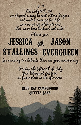Rustic Wedding Invites/Western wedding invitations/Custom Wedding Invitations/ Mountains/ sold in sets of 10