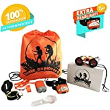 Kids Explorer Kit-Outdoor Exploration Learning Set for Boys/Girls Age 2 3 4 5 6 7 & 8-Boy Camping Adventure Gifts-Toddler Toys: Kid Binoculars, Headlamp, Flashlight, Compass, Magnifying Glass, Whistle
