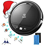 FOIIOE Automatic Robot Vacuum Cleaner - Robotic Auto Home Cleaning for Clean Carpet Hardwood Floor - Bot Self Detects Stairs - Allergy Friendly Pet Hair Vac