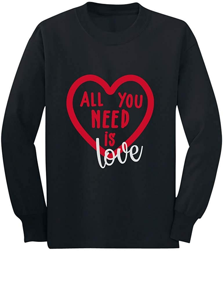 All You Need is Love Tstars Valentines Day Toddler//Kids Long Sleeve T-Shirt