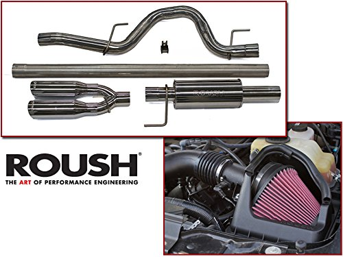 Roush F150 Exhaust - 2011-2014 F-150 5.0L V8 Roush Exhaust & Cold Air Intake Combo Kit