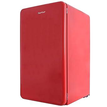 Northair refrigerador de estilo retro con congelador superior con ...