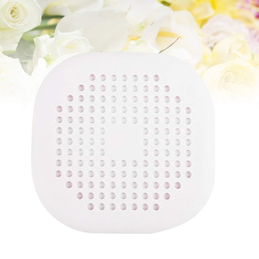 DOITOOL Blanco, 14 x 14 cm Filtro de desag/üe para Fregadero 5 filtros para Recoger el Pelo para Ducha de Silicona con ventosas para Lavabo ba/ñera y Ducha