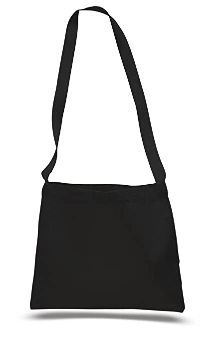 f610857d5a4a Cross Body Canvas Totes Small Messenger Tote Bags Long Shoulder Straps (Set  of 1, Black)